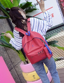 Fashion Red Circular Ring Decorated Backpack (2 Pcs)