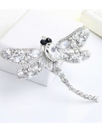 Fashion White Dragonfly Shape Decorated Brooch