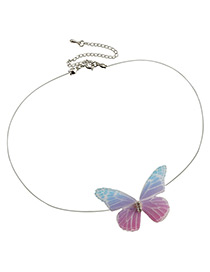Fashion Multi-color Butterfly Decorated Simple Choker