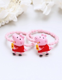 Lovely Red Little Pigs Decorated Hair Band(2pcs)