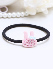 Lovely Pink Rabbit Ears Decorated Simple Hair Band