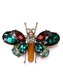 Fashion Green Insect Shape Decorated Simple Brooch