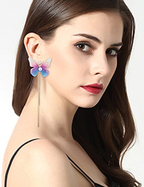 Lovely Multi-color Butterfly Decorated Earrings