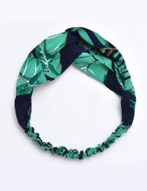 Fashion Green Leaf Pattern Decorated Hair Band