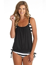 Fashion Black Color-matching Decorated Swimwear