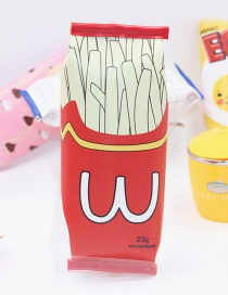 Cute Red Fried Chips Decorated Pencil Case