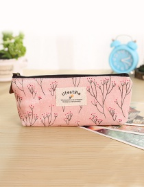 Fashion Pink Tree Pattern Decorated Pencil Case