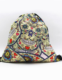 Fashion Multi-color Skull Shape Decorated Backpack