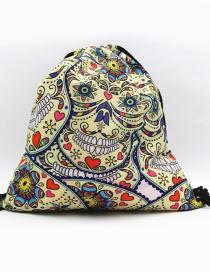 Fashion Multi-color Skull Shape Decorated Backpack