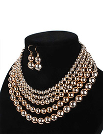 Fashion Gold Color Ball Shape Decorated Jewelry Set
