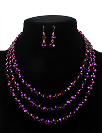 Fashion Purple Pure Color Decorated Jewelry Set