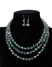 Fashion Dark Green Pure Color Decorated Jewelry Set