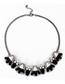 Fashion Black Diamond Decorated Necklace