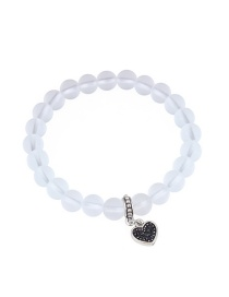 Fashion White Heart Shape Decorated Bracelet