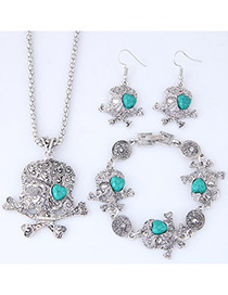 Lovely Blue Skeleton Shape Decorated Jewelry Sets