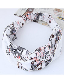Lovely White Flower Shape Decorated Hair Band