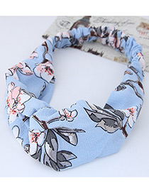 Lovely Blue Flower Shape Decorated Hair Band
