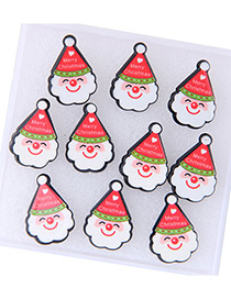 Fashion White+red Santa Claus Decorated Earring Sets (5pcs)