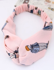 Lovely Pink Cartoon Characters Decorated Hair Band