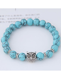 Elegant Green Owl Shape Decorated Bracelet