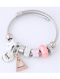 Elegant Pink Butterfly Shape Decorated Bracelet
