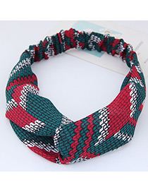 Fashion Multi-color Grid Pattern Decorated Hair Band