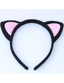 Fashion Pink Cat Ear Shape Decorated Heandband