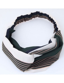 Fashion Green+white Stripe Pattern Decorated Headband