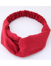 Fashion Red Pure Color Decorated Headband