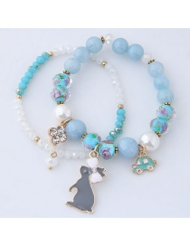 Fashion Light Blue Rabbit Shape Decorated Bracelet