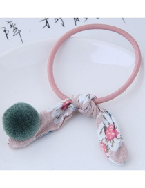 Fashion Green+pink Rabbit Ears Decorated Simple Hair Band