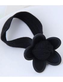Fashion Black Flower Shape Decorated Hair Band