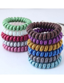 Fashion Multi-color Line Shape Decorated Hair Band (1 Pc Randomly )