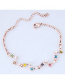 Fashion Multi-color Color-matching Decorated Bracelets