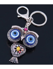 Fashion Multi-color Owl Shape Decorated Keychain