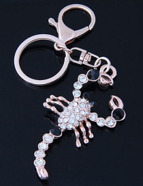 Fashion Gold Color Scorpion Shape Decorated Keychain