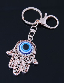 Fashion Blue Palm Shape Decorated Keychain