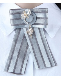 Fashion Gray Cap Shape Decorated Brooch