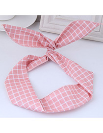 Elegant Pink Rabbit Ears Shape Decorated Hair Band