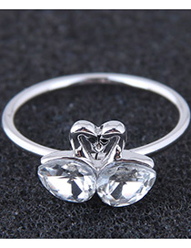 Fashion Silver Color Waterdrop Shape Decorated Ring