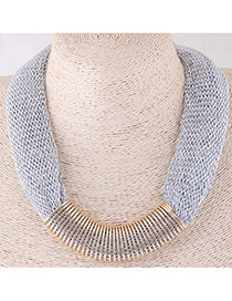 Fashion White Color-matching Decorated Necklace