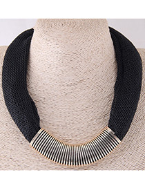 Fashion Black Color-matching Decorated Necklace