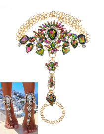 Fashion Multi-color Water Drop Shape Decorated Anklet