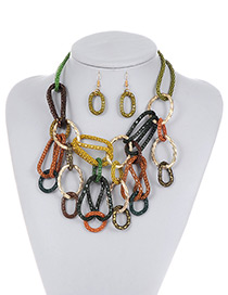Fashion Multi-color Color Matching Decorated Jewelry Sets