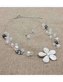 Fashion White Flower Decorated Multi-layer Jewelry Sets