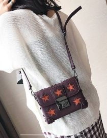 Fashion Red Star Shape Decorated Bag