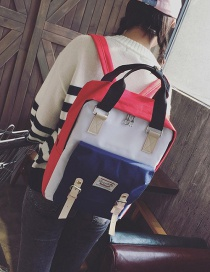 Fashion Multi-color Color Matching Decorated Backpack