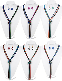 Fashion Multi-color Tassel Decorated Color Matching Jewelry Sets (randomly )