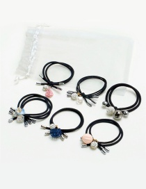 Fashion Multi-color Diamond Decorated Hair Band (6 Pcs)