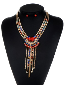 Fashion Gold Color Tassel Decorated Jewelry Set